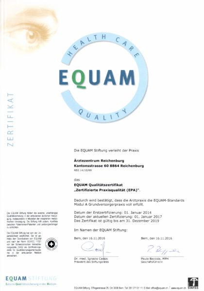 Zertifikat EQUAM 2016